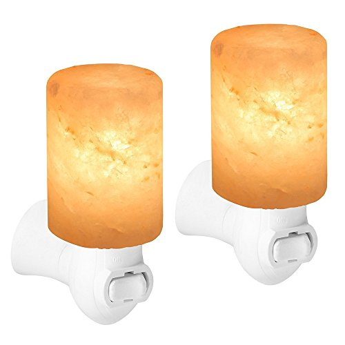 Original Himalayan Salt Lamps,PULNDA Crystal Salt Lamp Natural Air Purifier and Soft Night Light (Two Pack) by PULNDA