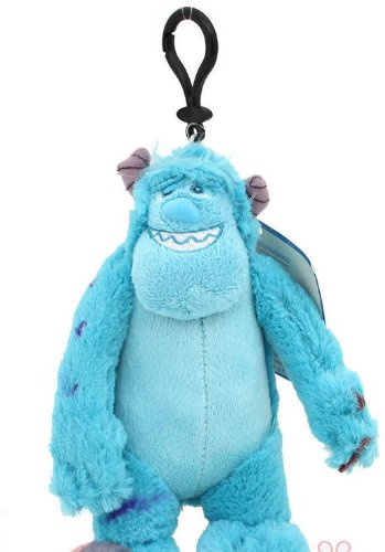 Monsters University Sulley Plush Clip Doll Key Chain Mini Coin -