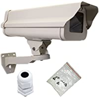 ✶✶✶✶✶ VENTECH Outdoor Weatherproof Heavy Duty Aluminum CCTV housing Security Surveillance Camera Housing camera Mount Enclosure with Bracket extra