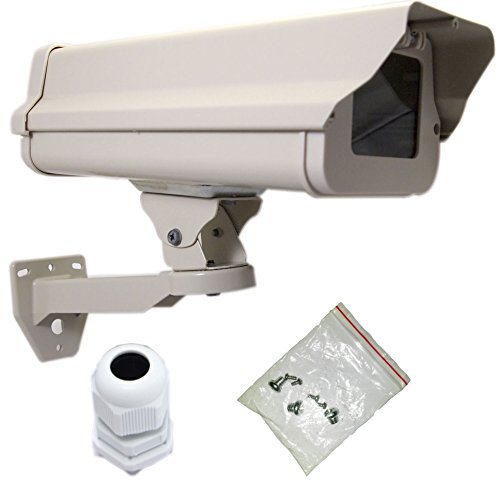 - VENTECH Outdoor Weatherproof Heavy Duty Aluminum CCTV housing Security Surveillance Camera Housing Camera Mount Enclosure with Bracket