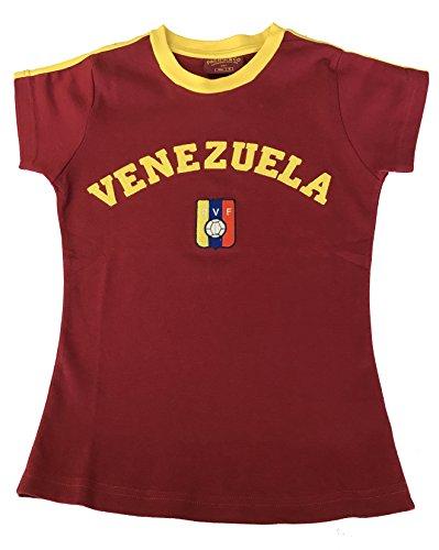 Venezuela Soccer Jersey (Team Venezuela juniors Soccer Jersey Shirt 100% Classic Burgundy (Maroon, XL))