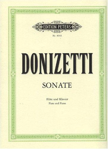 Sonate C ( Meylan ) Flûte Traversiere (Allemand) Brochure – 1 janvier 2000 Gaetano Donizetti Peters B00006M2M8 Musikalien