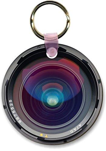 Round Shape Keychain (Rikki Knight Slr Camera Shutter Lens Design Round Shape Key Chains (Set of 2),)