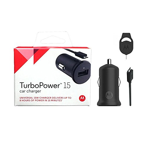 New Motorola OEM 15W Turbo Power Rapid Car Charger + USB + SIM Eijector (US Retail Packing) (Motorola Droid Turbo Car Kit compare prices)