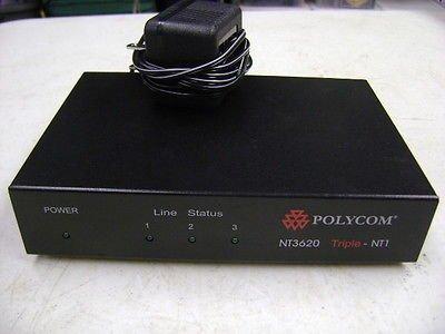 Polycom Nt3620 Triple Nt1 Isdn Ut3620 Interface W/ Power Supply ()