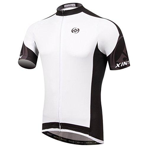 Summer Fashion TeyxoCo Men Captain White Cycling Jersey Top XL ()