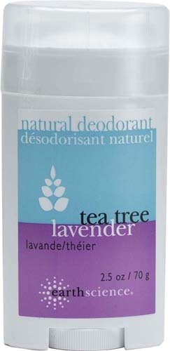 Earth Science Tea Tree/Lavender Deodorant, 2.45-Ounce Containers (Pack of 4)