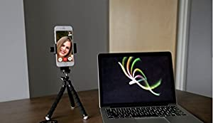 KobraTech Cell Phone Tripod Adapter - UniMount 360 - Universal Phone Tripod Mount Attachment for Any Size Smartphone - Includes Bonus Bluetooth Shutter Remote