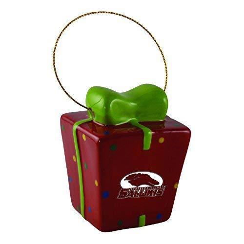 Southern Illinois University-3D Ceramic Gift Box Ornament