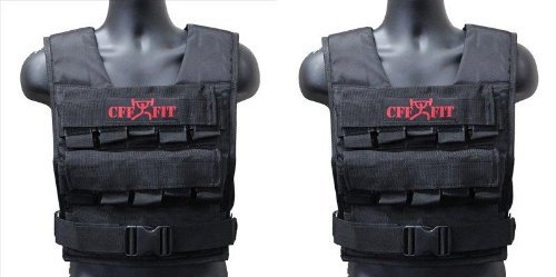 CFF Adjustable Weighted Vest 20 kg/44 lbs - Comes with extra Vest(shell only) by CFF
