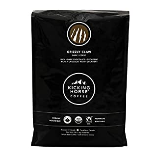 Kicking Horse Coffee, Grizzly Claw, Dark Roast, Whole Bean, 2.2 Pound - Certified Organic, Fairtrade, Kosher Coffee