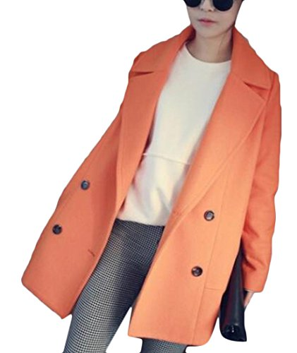 Jackets Lapel Woolen Collar Parka 2 M amp;S Women's Long Korean amp;W ICaxIzwnqf