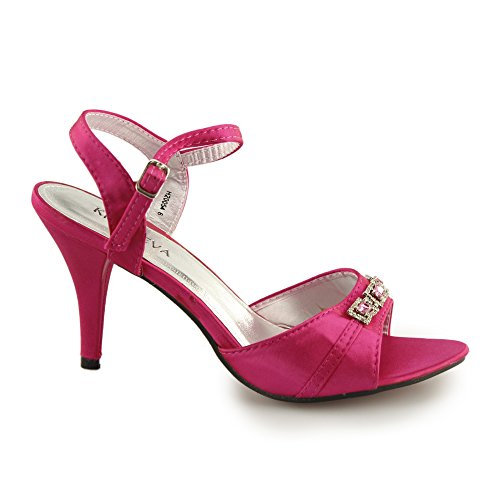 Damenschnalle Diamante Open H20054 Toe Pink Stöckelschuhe Shuperb Pink H5RqwZWn