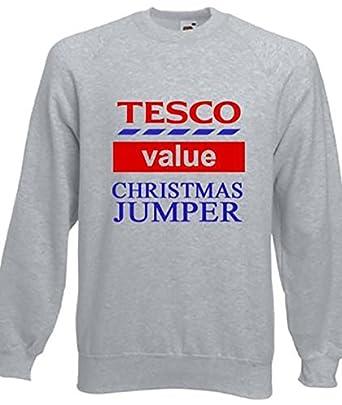 funny tesco 39 s value christmas jumpers sweatshirt gift idea. Black Bedroom Furniture Sets. Home Design Ideas