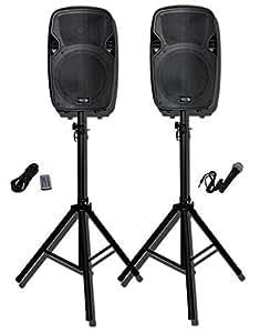 "Amazon.com: Epic USA Pro Audio SYSTEM12 Dual 12"" Powered ..."