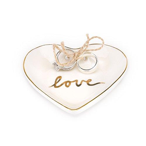 - Hortense B. Hewitt 80835 Gold Love Ring Pillow Alternative, 4
