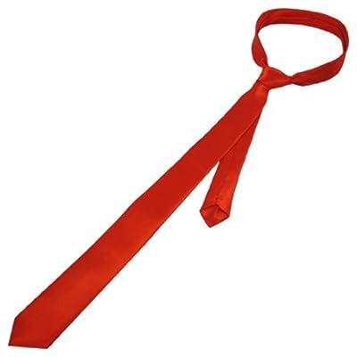 uxcell Men Bussiness Self Tie Adjustable Neckwear Clothes Decor Slim Necktie