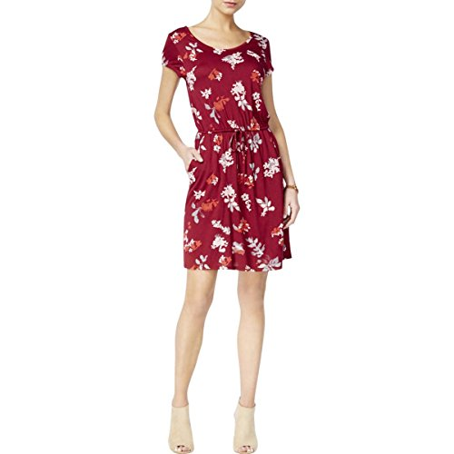 Lucky Brand Women's Wildflower Dress, Merlot Multi, Large