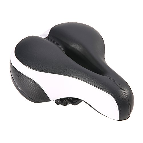 - UNISTRENGH Professional Bicycle Saddles Mountain Road Bike Seat Comfy Cycling Pad Cushion (Black/White)
