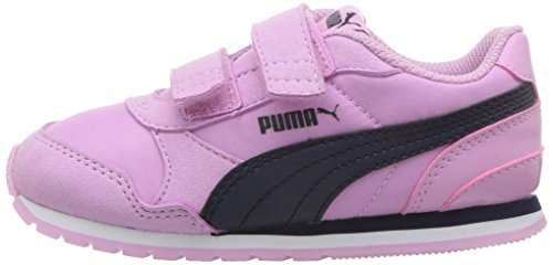 PUMA Unisex-Kids ST Runner NL Velcro Sneaker, Orchid-Peacoat, 2 M US Little Kid by PUMA (Image #5)