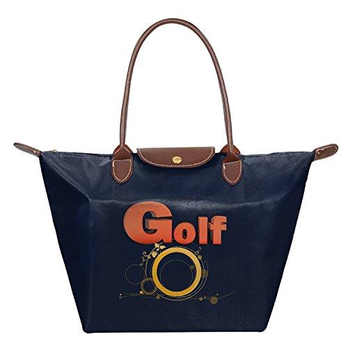 The Orange Golf Letters Women's Folding Dumpling Bag Folding Dumpling Handbag Nylon WaterProof Gripesack School Backpack Dumplings Type Shoulder Tote Bag Shoulder Bag