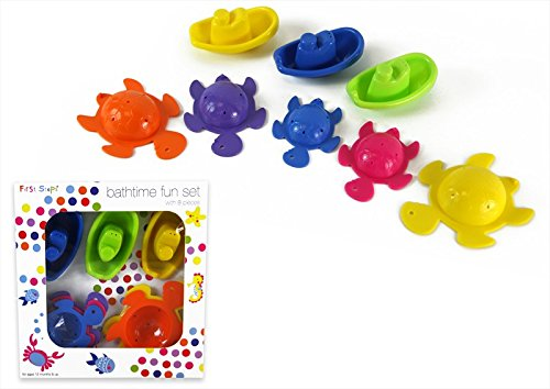 First Steps 8-Piece Bathtime Fun Set (Multicoloured) PS099