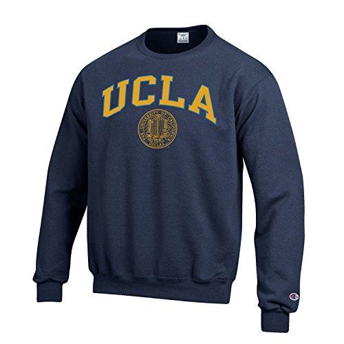 - Champion UCLA Block & Seal Crew Neck Sweatshirt-Navy