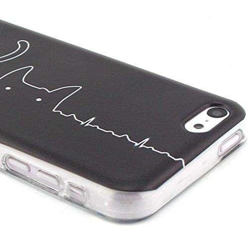 Radio Noir Premium gel TPU souple Clair Bumper silicone protection Housse arrière coque étui Pour Apple iPhone 5 5S / SE