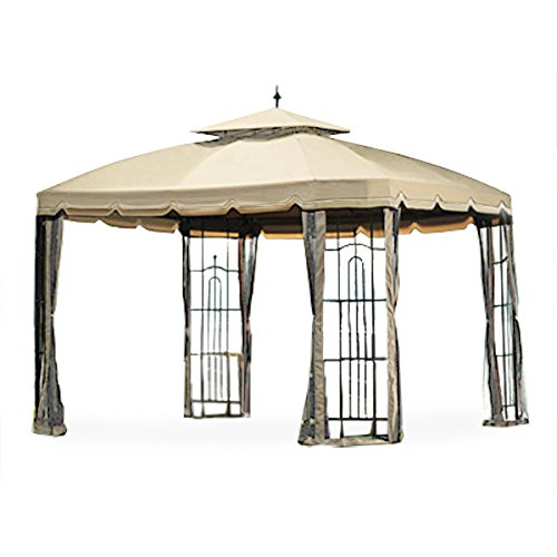 Garden winds replacement canopy for big lots bay window for Outdoor furniture gazebo