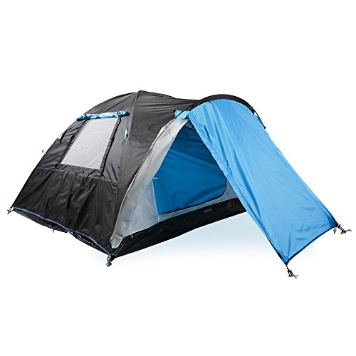 Two Person Camping Tent with Vestibule, 2 People Waterproof Backpacking Tent for Outdoor Travel Camping Hiking, 3 Seasons Double Layer Waterproof Outdoor Shelter Tent House for Family