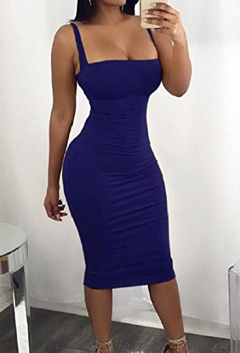 Colored Lace Blue Backless Sexy Solid Bodycon Women up Coolred Pencil Sheath Dress qIfAB5xwW