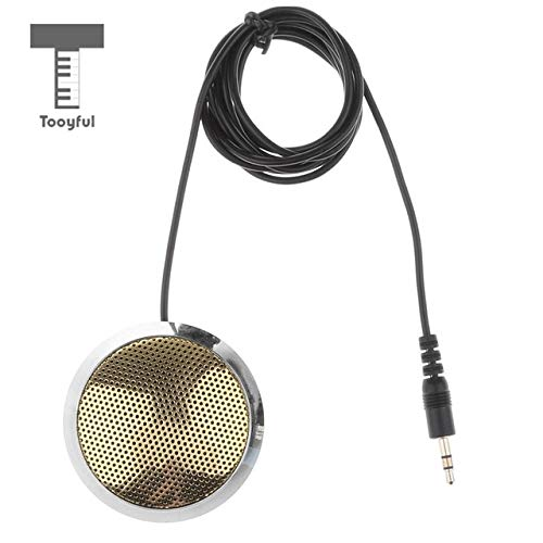 Value-5-Star - 3.5mm Plug-in Boundary Microphone, Omnidirectional Desktop Conference Meeting Mic with 4.9ft Cable for Teleconferencing