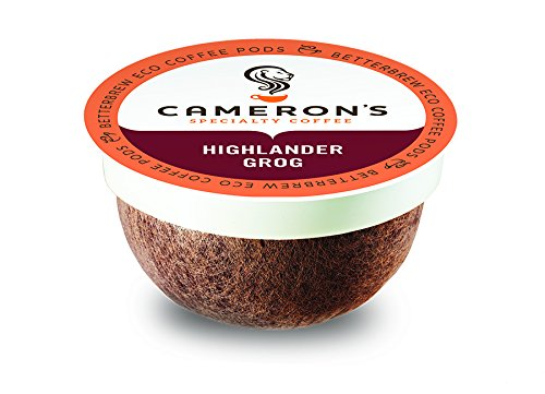 Camerons Coffee Single Serve Pods, Flavored, Highlander Grog, 18 Count (Pack of 1)