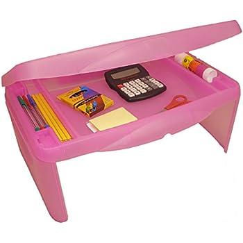 "Storage Folding Lap Desk (Frosted Pink) (2.5""H x 17.5""W x 13""D)"
