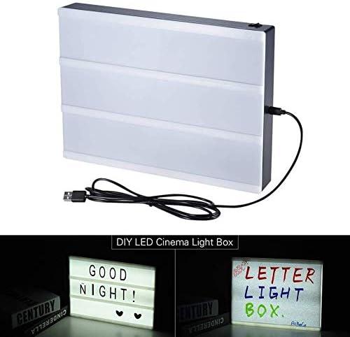 U/A A5 Größe Cinema Light Box Message Board mit austauschbaren Letters freie Kombination for Geburtstags-Geschenk for Kinder Erwachsene Home Office DAGUAI