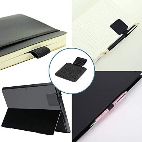5 St/ück selbstklebende Leder-Bleistiftringe f/ür Notizbuch Tagebuch 5 Farben Elastischer Stifthalter Kalender,