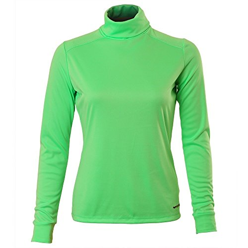 Price comparison product image Hot Chillys Women's Peach Solid T-Neck Tee,  Spring Green,  X-Large