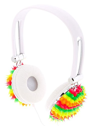 ffccda213a4d1 Claires Rainbow Neon Spike Headphones