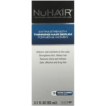 NuHair Thinning Hair Serum, for Men & Women, 3.1oz. Bottle