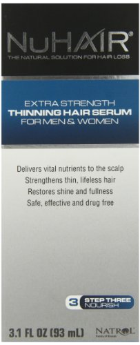 NuHair Thinning Hair Serum, for Men & Women, 3.1oz. Bottle