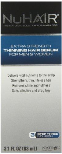 NuHair Thinning Hair Serum, for Men & Women, 3.1-Ounce Bottle
