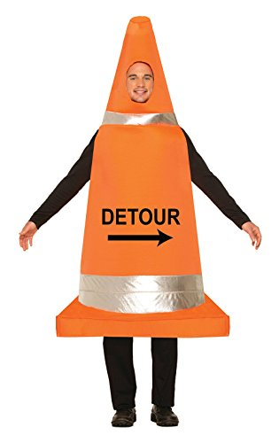 Forum Novelties Men's Traffic Cone Costume, Orange, One (Orange Traffic Cone Halloween Costume)