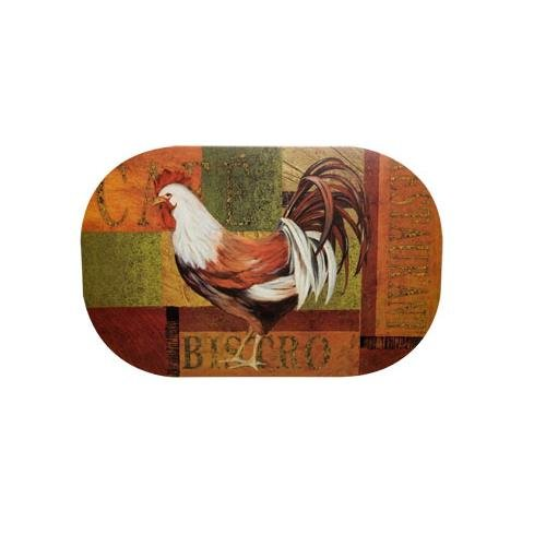 Print Placemat Set (Set of (4) Rustic Rooster Print)