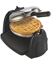Hamilton Beach Flip Belgian Waffle Maker with Non-Stick Copper Ceramic Removable Plates