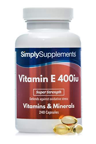 Vitamin E 400iu - 240 Kapseln - SimplySupplements