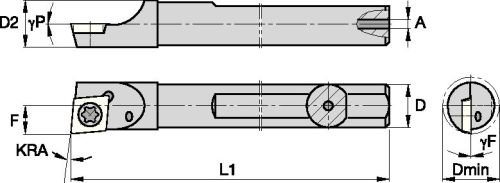 2.95276 Length Neutral CXS-07 Insert Size Internal Steel Round Shank 5//8 Shank Diameter Screw Clamp Sandvik Coromant CXS-A0625-07 Turning Insert Holder