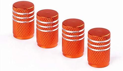 MoreLucky Lot de 4 bouchons de valve universels en aluminium pour pneus de voiture ou moto