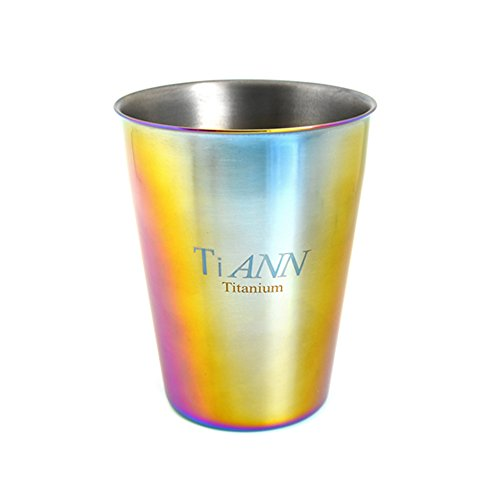 TiANN Titanium Coffee Cup (330 ml) Multicolored