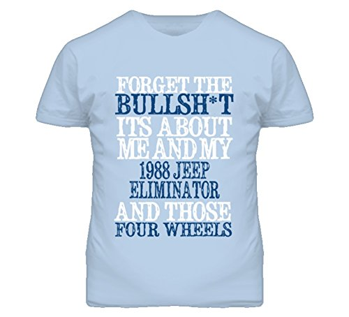 About 1988 T-shirt (Forget The BS Its All About 1988 Eliminator Distressed Look T Shirt 2XL Light Blue)