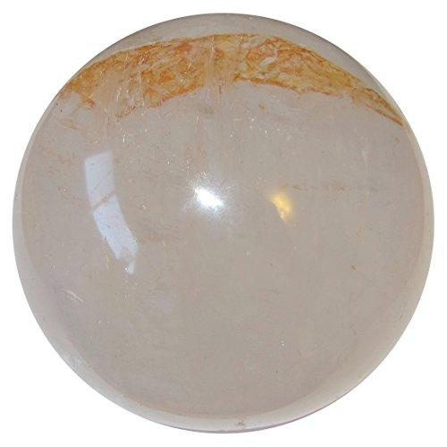 Quartz Ball Clear 82 Big Crystal Gazing Sphere Red Iron Hatchet Layer Negativity Slayer Healing Stone 3.7